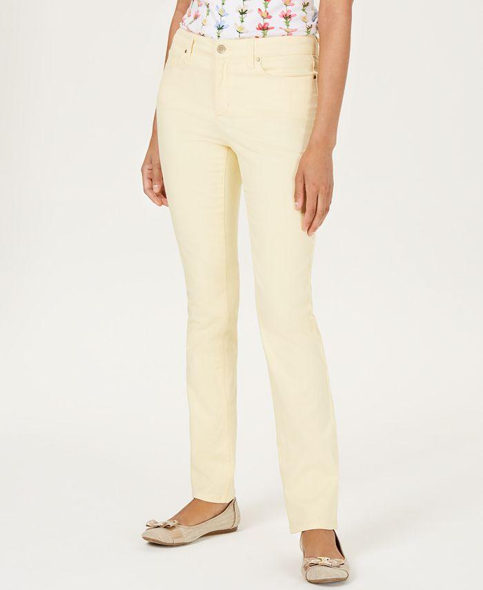 Charter Club - Tummy-Slimming Straight-Leg Jeans, Nantucket Wash