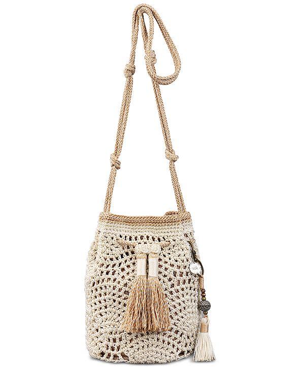 The Sak Sayulita Crochet Drawstring Bucket
