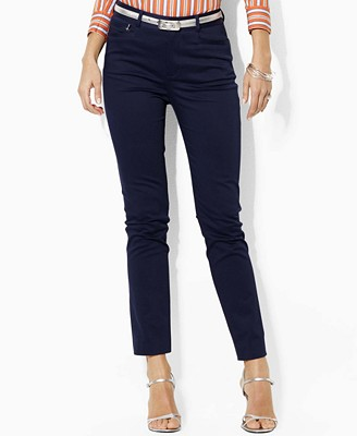 Lauren by Ralph Lauren Pants, Hunter Stretch Sateen Ankle Length Pants