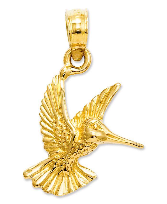 Macy's - 14k Gold Charm, Hummingbird Charm