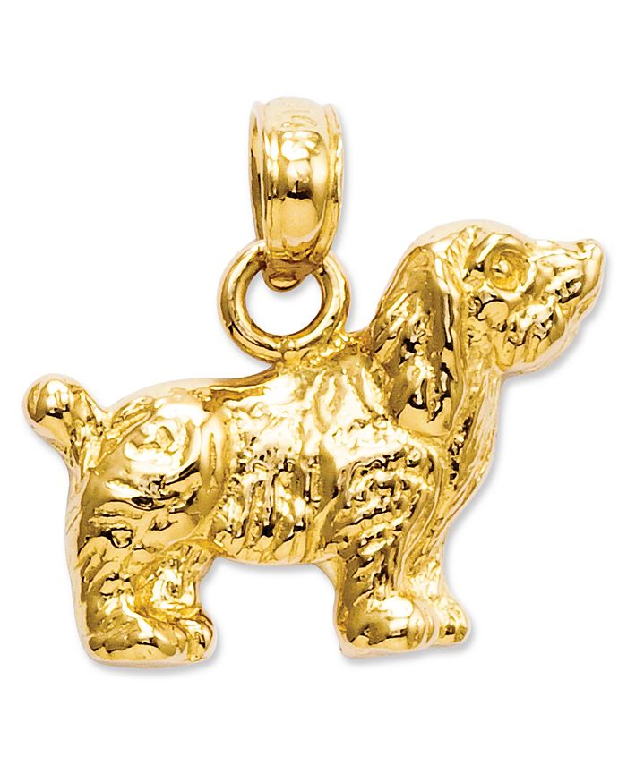 Macy's - 14k Gold Charm, Cocker Spaniel Dog Charm
