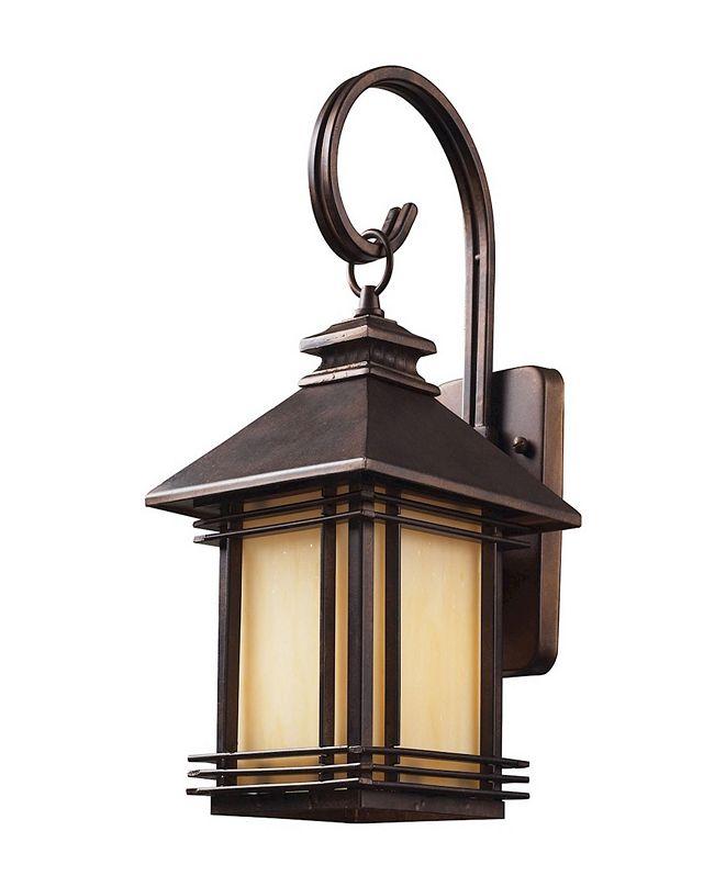 ELK Lighting Blackwell 1 Light Outdoor Wall Sconce in Hazelnut Bronze