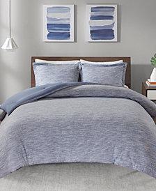 Urban Habitat Space Dyed Full/Queen 3 Piece Melange Cotton Jersey Knit Comforter Set