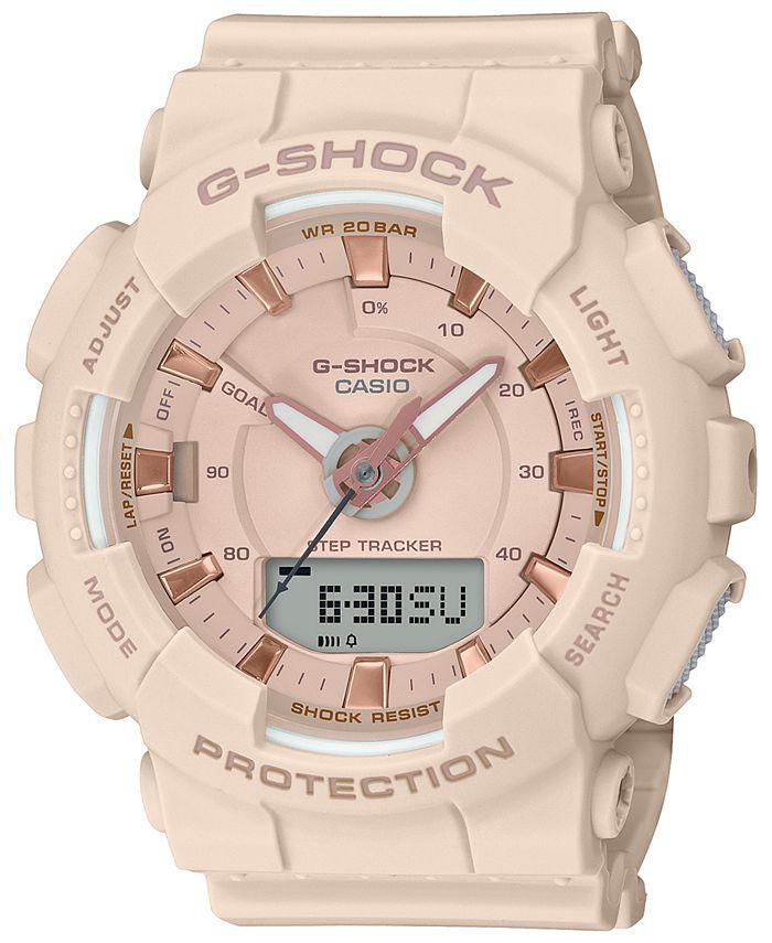 G-Shock - Women's Analog-Digital Step Tracker Pink Resin Strap Watch 49.5mm