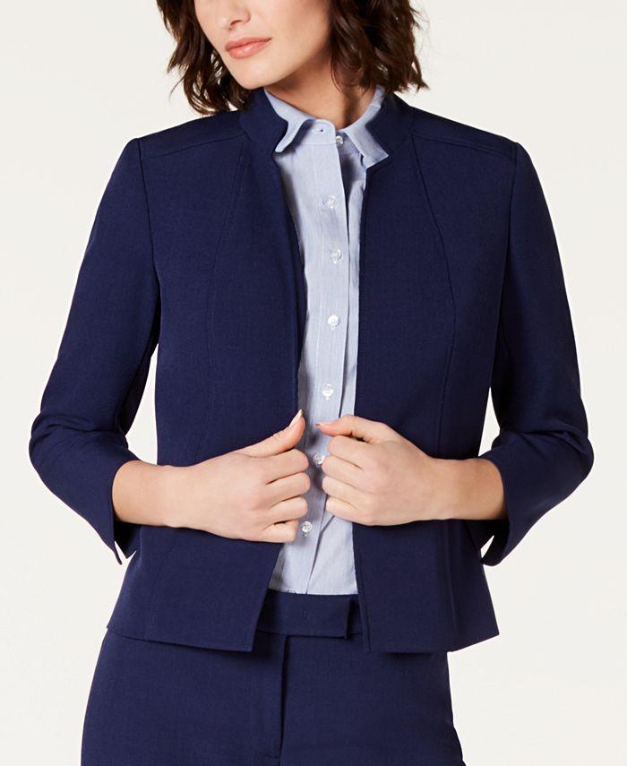 Anne Klein - Star-Collar Open-Front Blazer