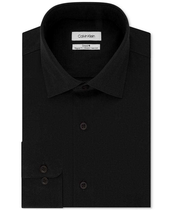 Calvin Klein - Men's STEEL Classic/Regular Fit Non-Iron Performance Stretch Fineline Dress Shirt