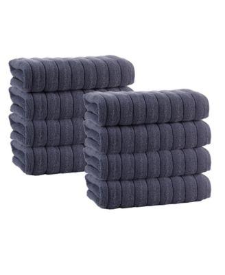 Vague 8-Pc. Hand Towels Turkish Cotton Towel Set