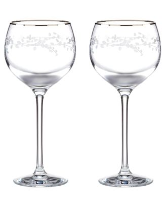 kate spade new york Set of 2 Gardner Street Wine Glasses