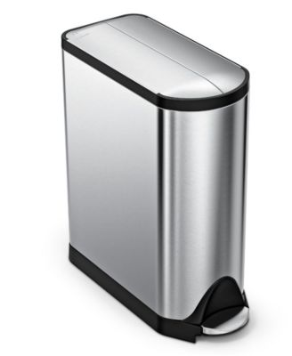 simplehuman Trash Can, 45L Butterfly Step Can