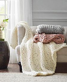 "Chunky Knit 50"" x 60"" Handmade Throw Blanket"