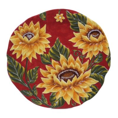 Sunset Sunflower Round Platter