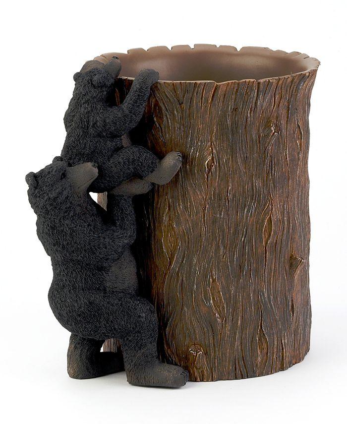 Avanti - Black Bear Lodge Wastebasket