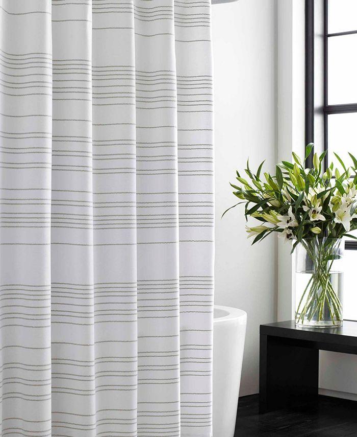 Vera Wang - Irregular Stripe Shower Curtain