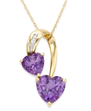 14k Gold Amethyst (2-5/8 ct. t.w.) & Diamond Accent Heart Pendant