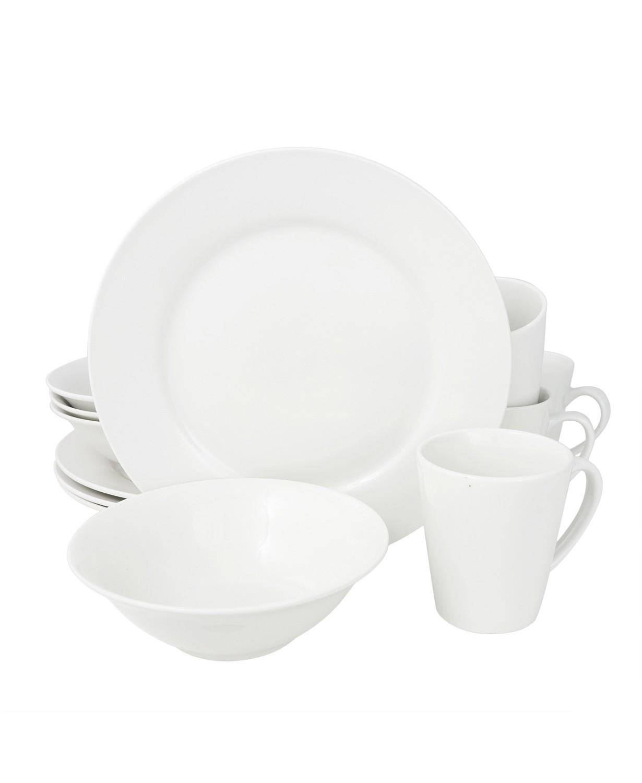 (49% OFF Deal) 12 Piece Dinnerware Set, Rim Shape $38.99