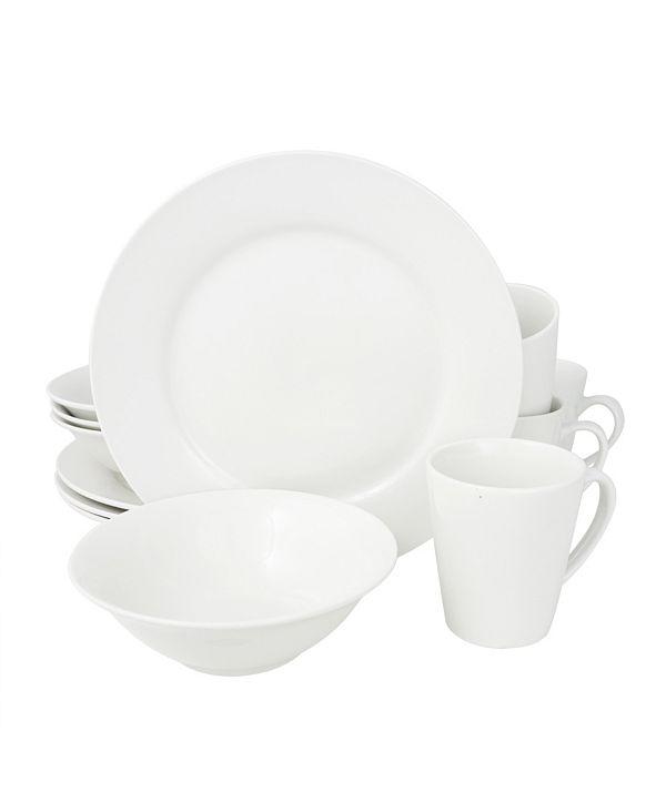 Noble Court 12 Piece Dinnerware Set, Rim Shape