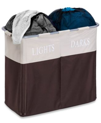 Honey Can Do Hampers, Dual Light & Dark Laundry Sorter Compartments
