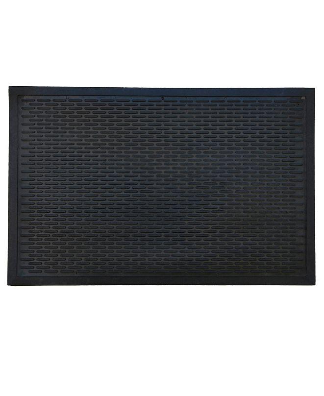 """Home & More Ridge Scraper 22"""" x 34"""" Rubber Doormat"""