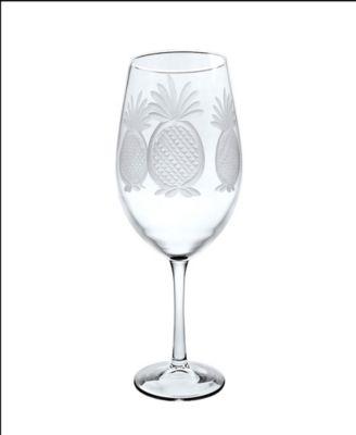 Pineapple All Purpose Wine Glass 18Oz - Set Of 4 Glasses