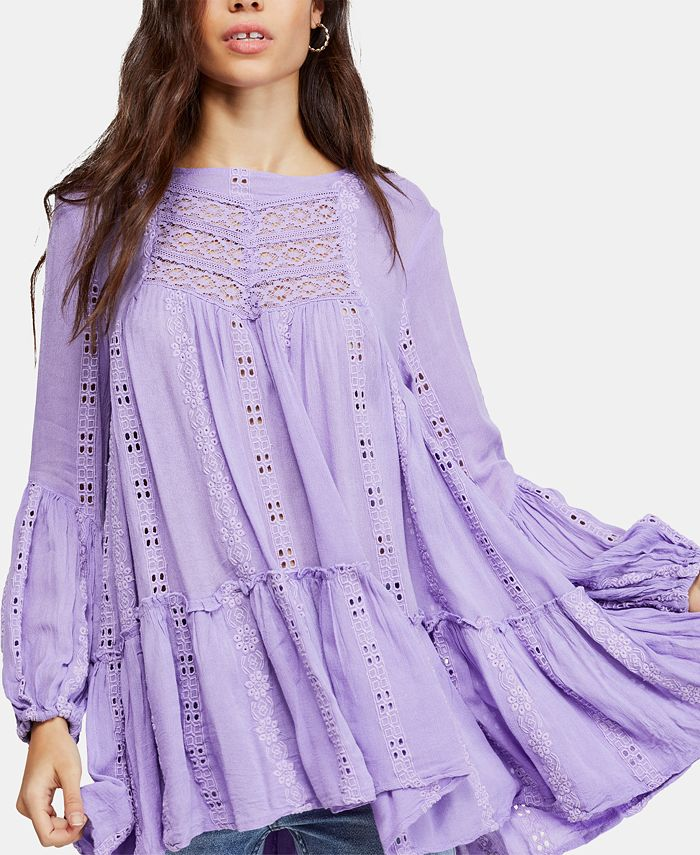 Free People - Kiss Kiss Embroidered Lace Tunic