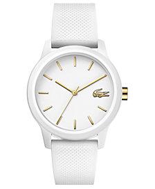 Lacoste Women's 12.12 White Rubber Strap Watch 36mm