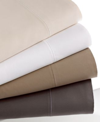 Hotel Collection 700 Thread Count Solid MicroCotton Queen Fitted Sheet
