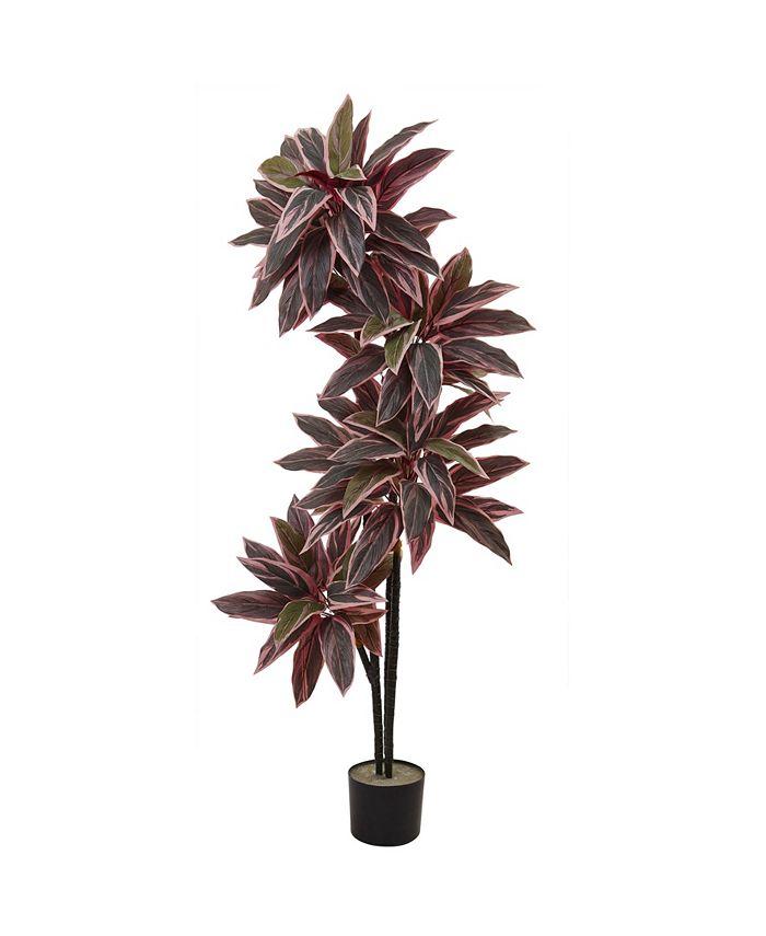 "Nearly Natural - 54"" Caladium Silk Plant"
