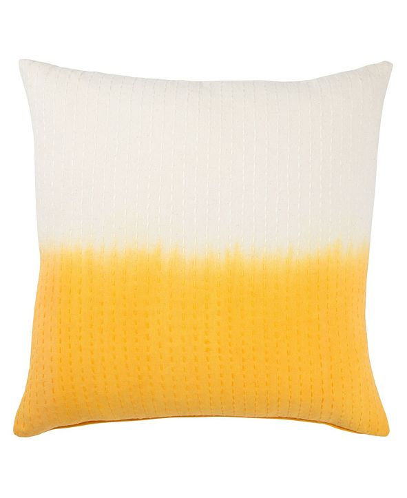 Jaipur Living Museum Ifa By Dusk Yellow/White Ombre Down Throw Pillow 20""