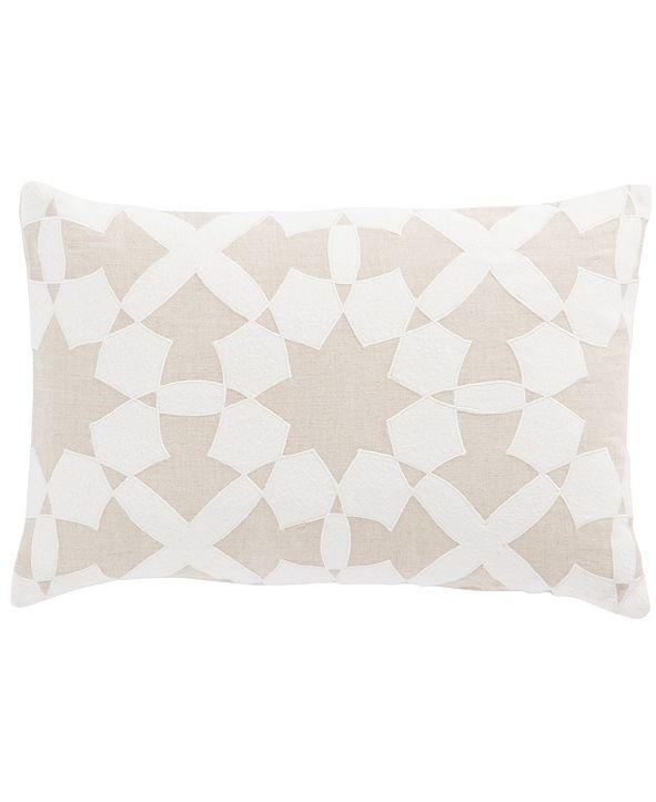 "Jaipur Living Nikki Chu By Casino Beige/Ivory Geometric Down Throw Pillow 16"" x 24"""