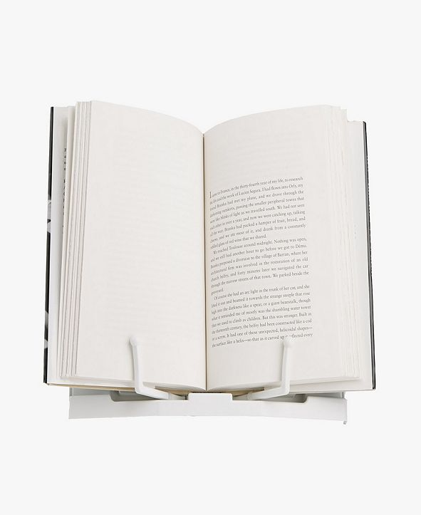 Mind Reader Portable Bookstand with Adjustable Page Holders