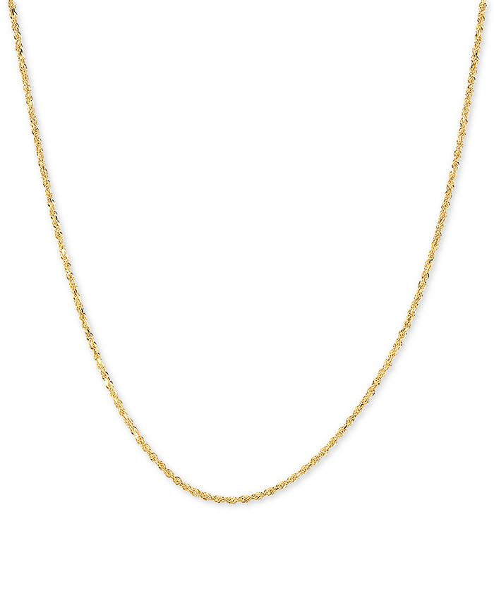 """Macy's - Glitter Rope 18"""" Chain Necklace in 14k Gold"""