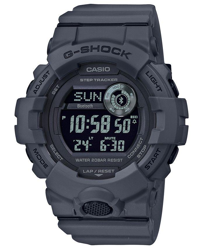 G-Shock - Men's Digital Gray Resin Strap Watch 48.6mm