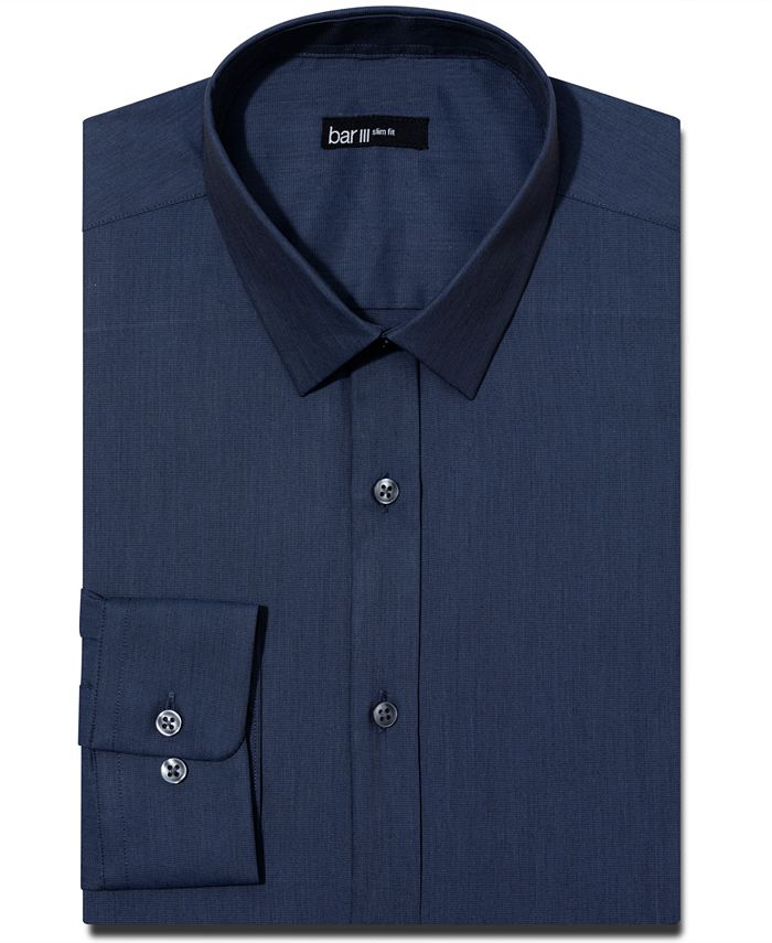 Bar III - Slim-Fit Solid Dress Shirt, Only at Macy's