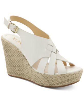 XOXO Lazaro Platform Wedge Sandals