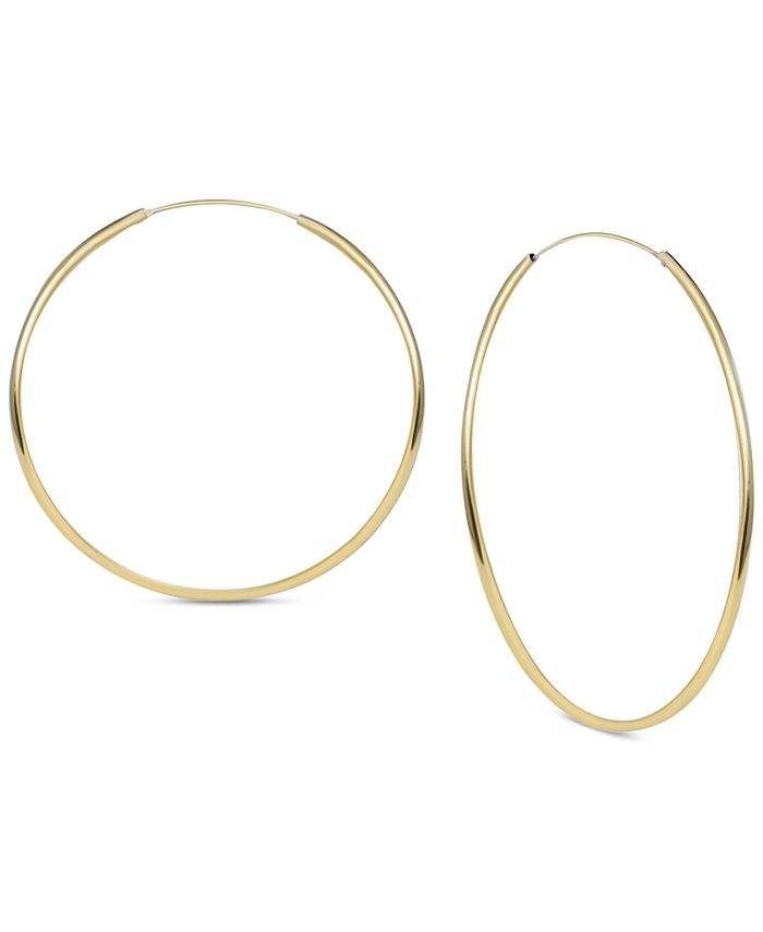 Argento Vivo - Large Endless Hoop Earrings in Gold-Plated Sterling Silver