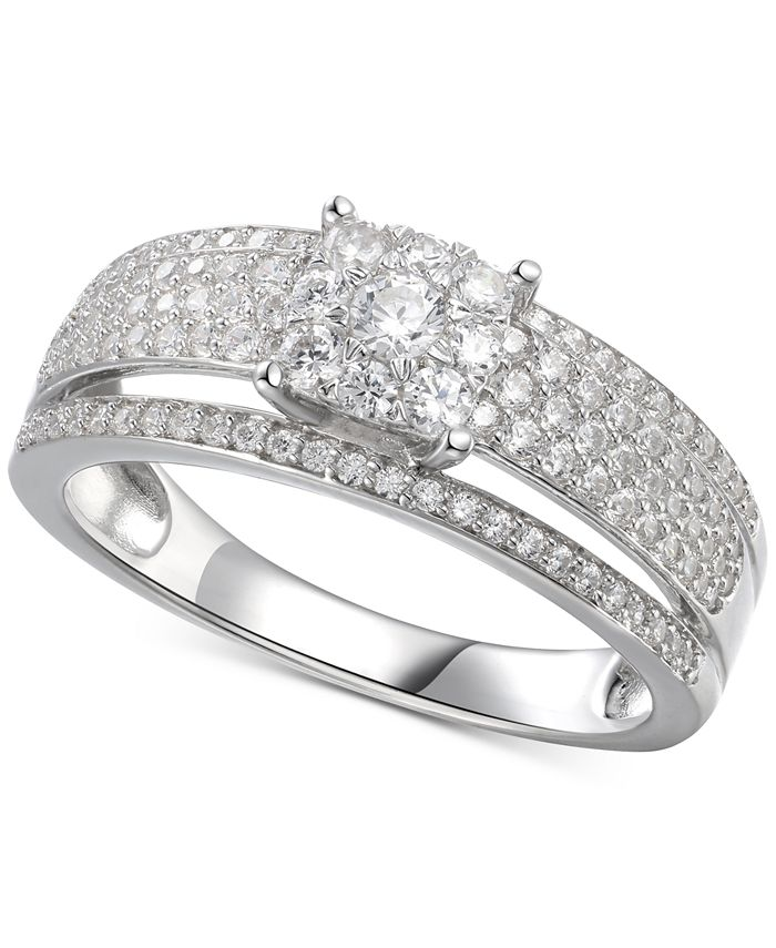 Macy's - Cubic Zirconia Bridal Ring in Sterling Silver