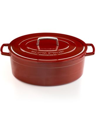 Martha Stewart Collection Collector's Enameled Cast Iron 8 Qt. Oval Cranberry Casserole