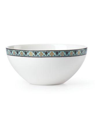 Global Tapestry Aquamarine Lotus Dip Bowl