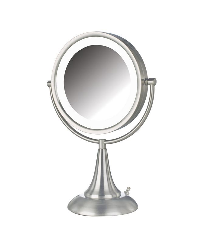 """Jerdon The HL8510NL 8.5"""" LED Lighted Table Top Mirror"""