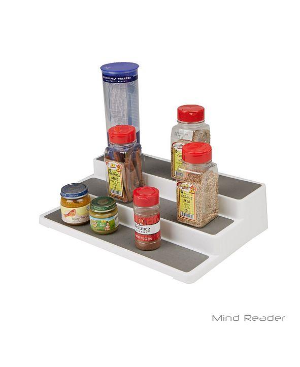 Mind Reader 3-Tier Spice Pantry Kitchen Cabinet Organizer, Non-Skid, Shelf Organization