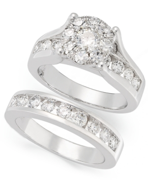 Prestige Unity Diamond Bridal Set, 14k White Gold Diamond Engagement Ring and Wedding Band (2 ct. t.w.)