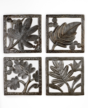 Heart of Haiti Wall Art, Metal Leaf Panels