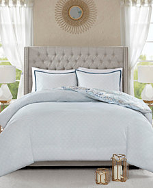 Madison Park Isla California King 8 Piece Cotton Printed Reversible Comforter Set