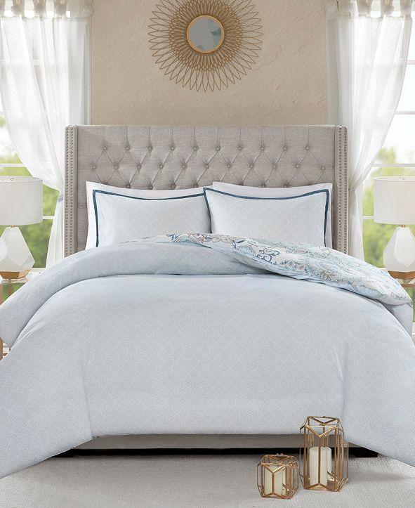 JLA Home Madison Park Isla California King 8 Piece Cotton Printed Reversible Comforter Set