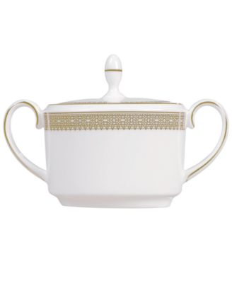 Vera Wang Wedgwood Dinnerware, Lace Gold Sugar Bowl