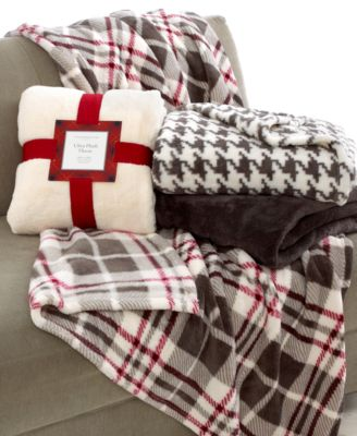Charter Club Blankets Printed Ultra Plush Throw Bedding