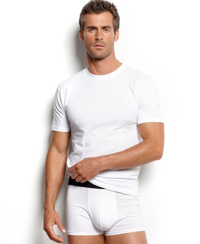 Alfani Men's Underwear, Big & Tall 3 Pack Tagless Crew Neck Undershirts &  Reviews - Underwear & Socks - Men - Macy's