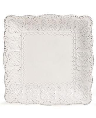 Maison Versailles Blanc Elisabeth Square Salad Plate