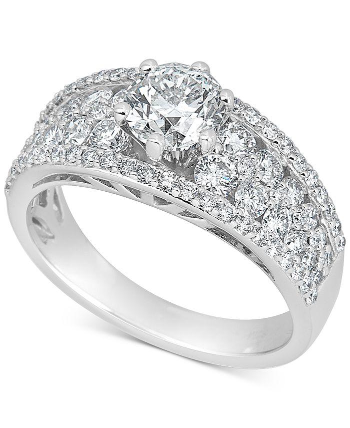 Macy's - Diamond Engagement Ring (2-1/4 ct. t.w.) in 14k White Gold