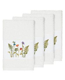 Linum Home Turkish Cotton Serenity 4-Pc. Embellished Hand Towel Set